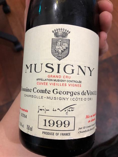 1999 Domaine comte georges de vogue musigny cuvee vieilles vignes grand cru 와인 판매합니다