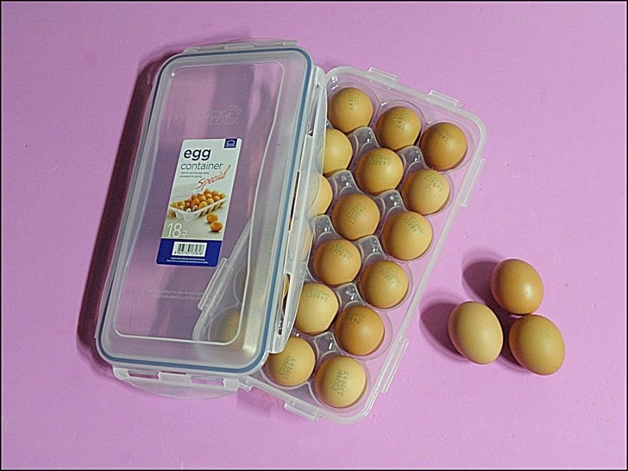 천연발효액을 급이한 자연동물복지란 EGGMAN! 락앤락 스페셜 계란보관용기에 위생적이고 간편하게 보관하세요~^^