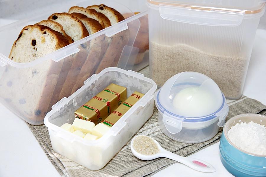 보관용기 종류(파우더용기, 식빵용기, 양파용기, 버터용기)가 꽤 다양해요