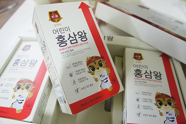 웅진 장쾌삼 어린이 홍삼왕으로 아이 면역력을 높여요^^