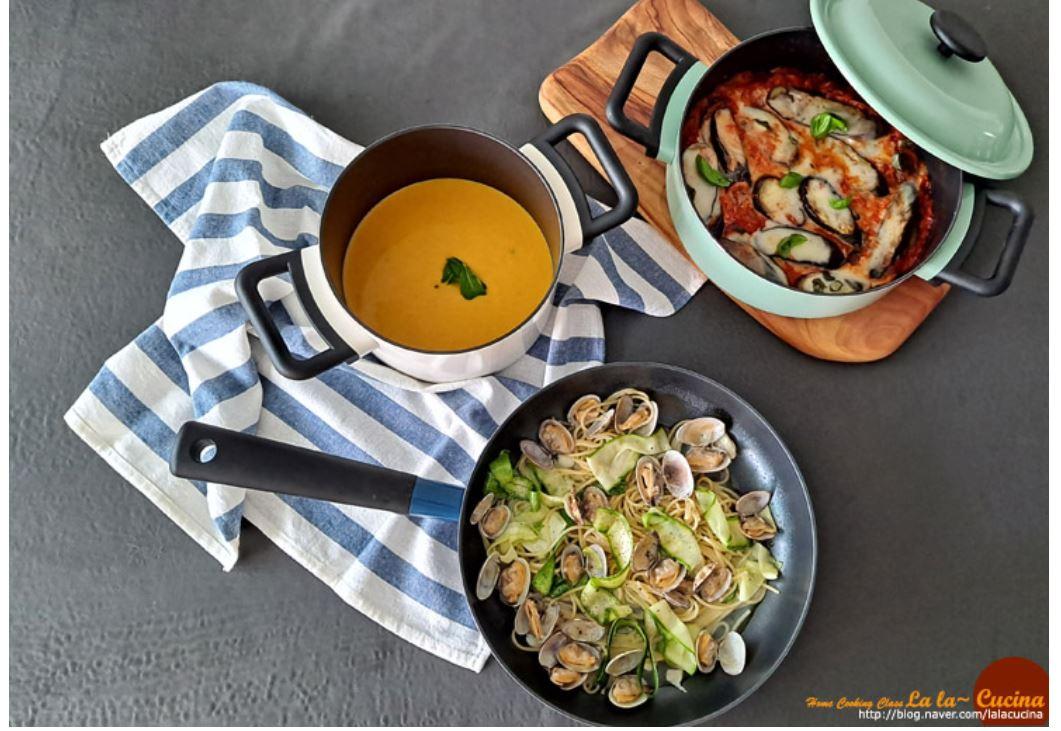 락앤락 데꼬르 인덕션 냄비 후라이팬으로 즐거운 요리를 만들어 봅니다.
