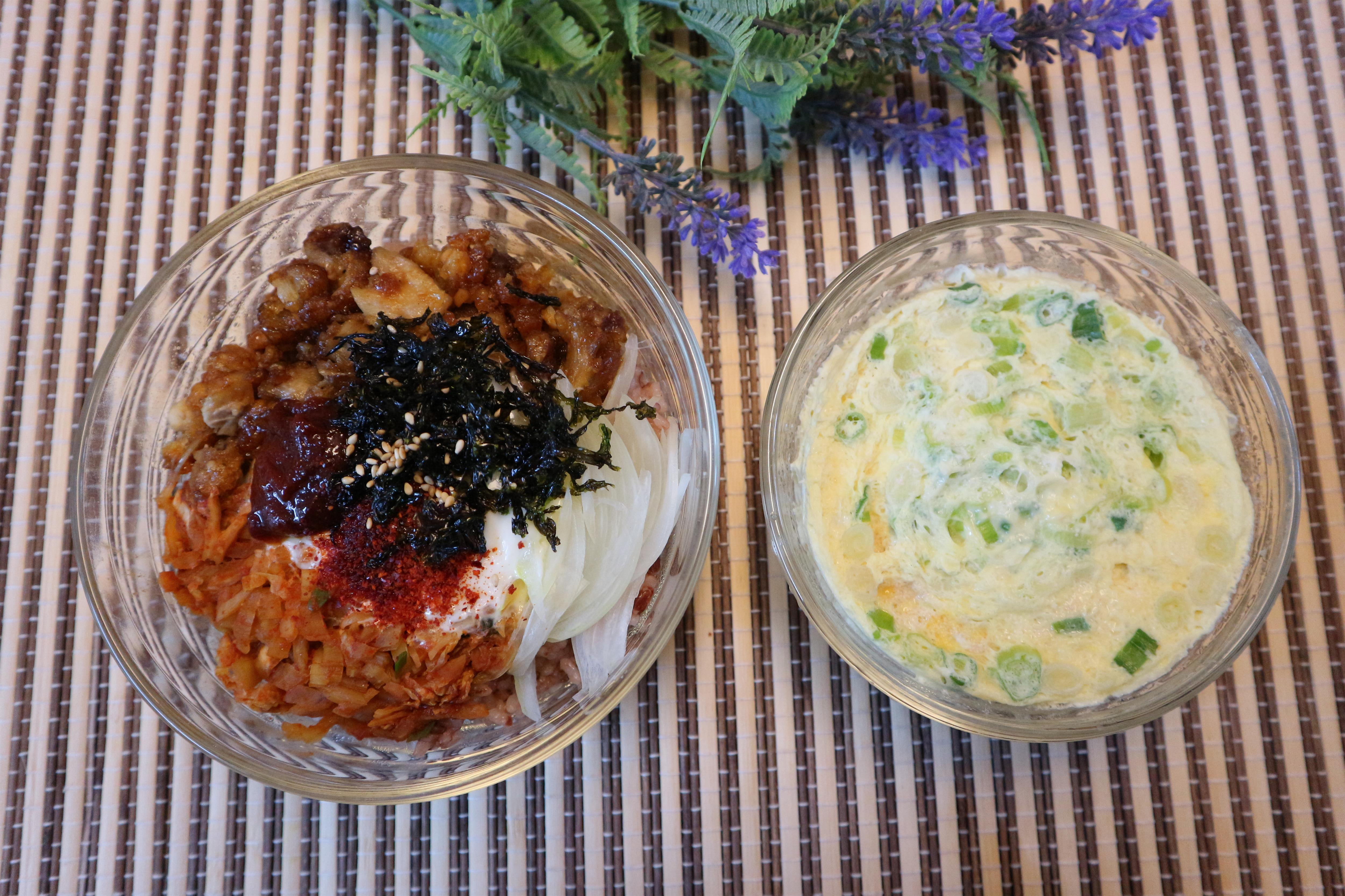 락앤락 간편식 글라스로 뚝딱 만드는 양념치킨덮밥과 명란계란찜