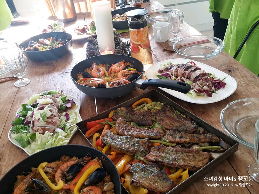 락앤락써포터즈 쿠킹클래스에서 스페인요리 배우고 행복한 연말파티 했어요.