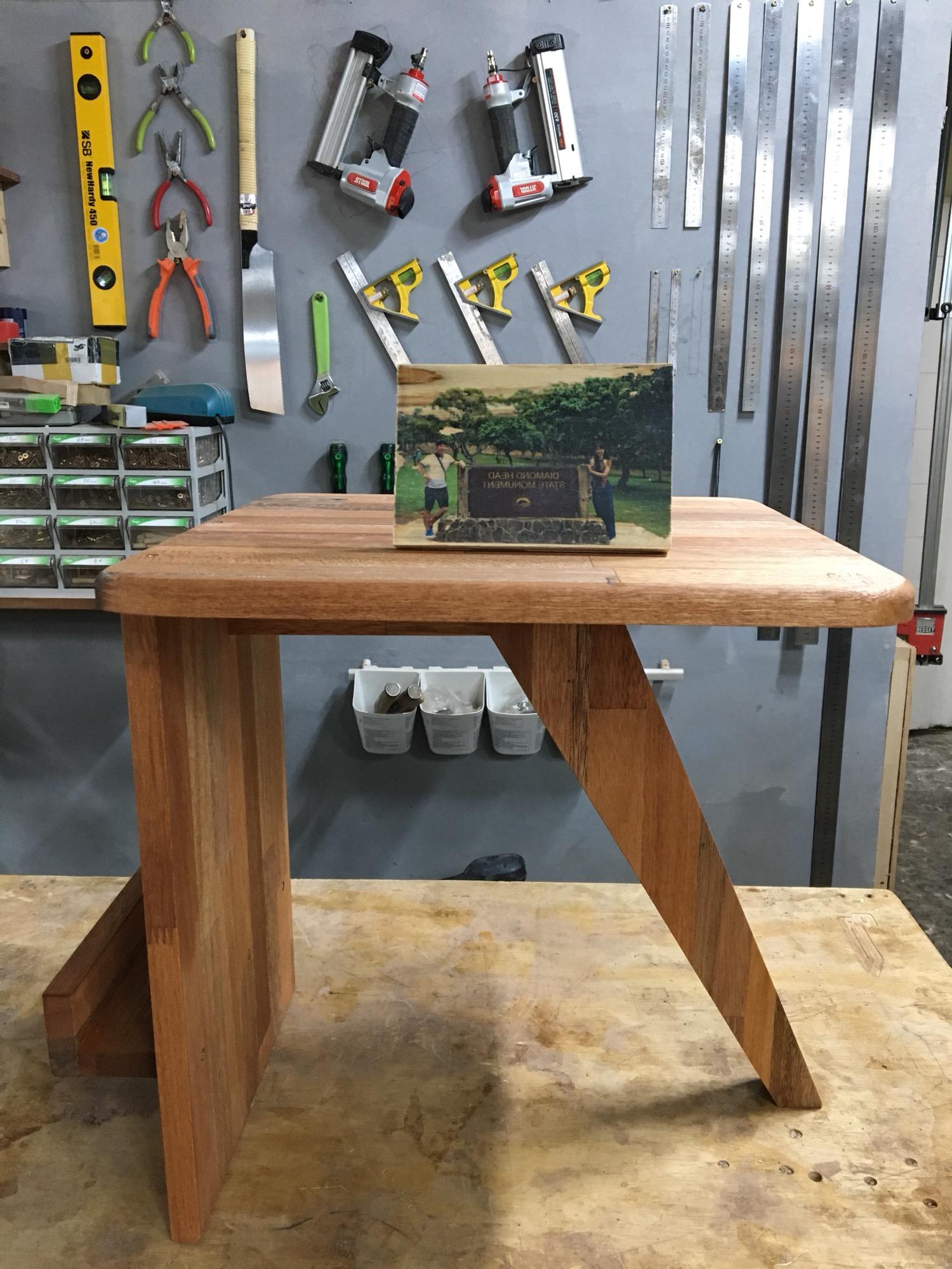 락앤락 원데이 클래스 - 셀프 인테리어. 책꽂이 원목 테이블, 우드포토 완성