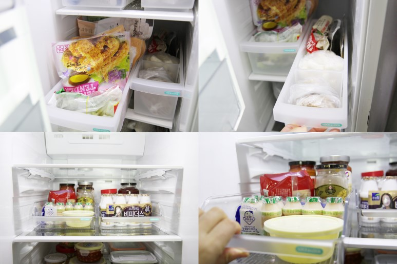 냉장고 정리트레이로 봄맞이 냉장고 정리 끝!