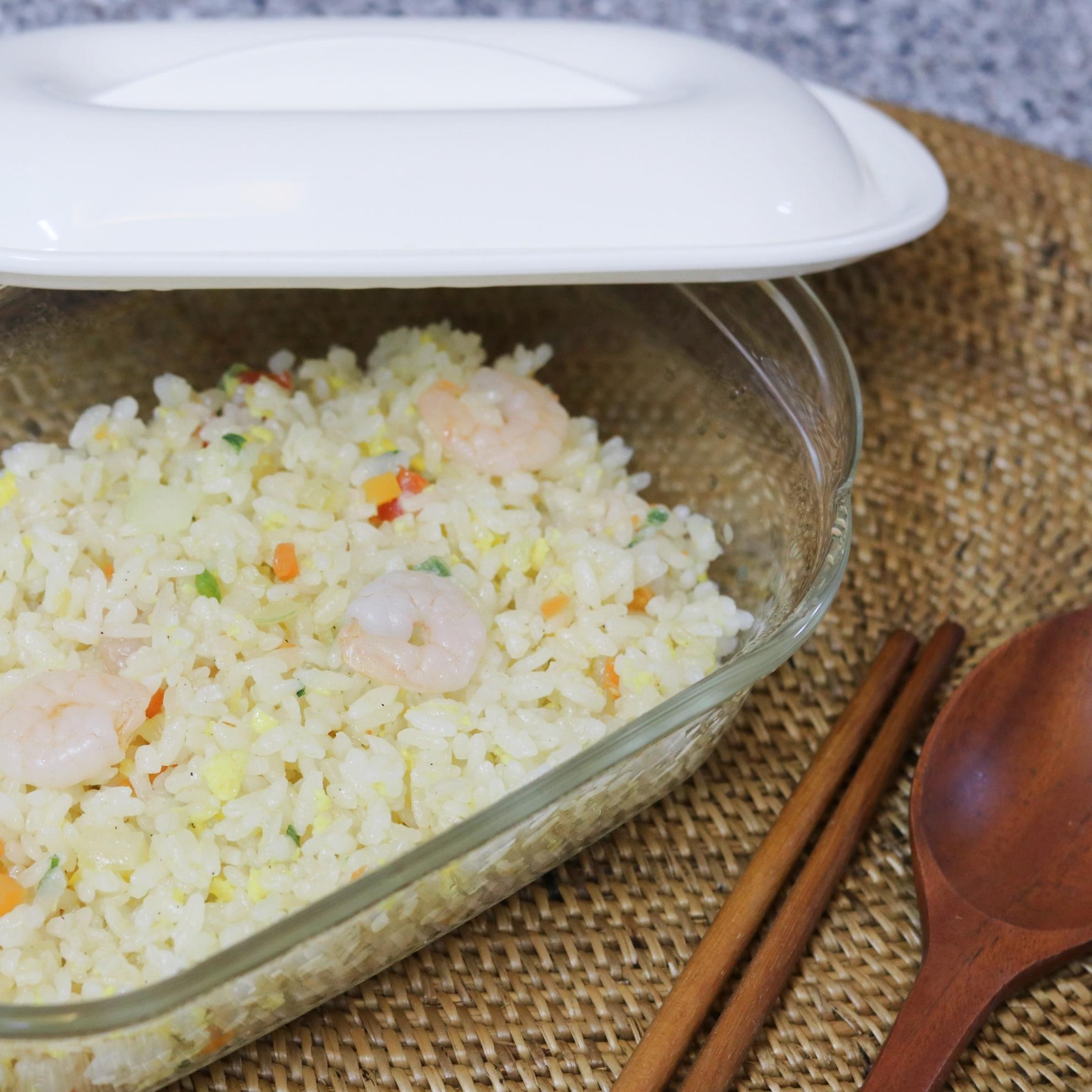 간편식 전용용기로 맛있는 간편요리 새우볶음밥 만들기!