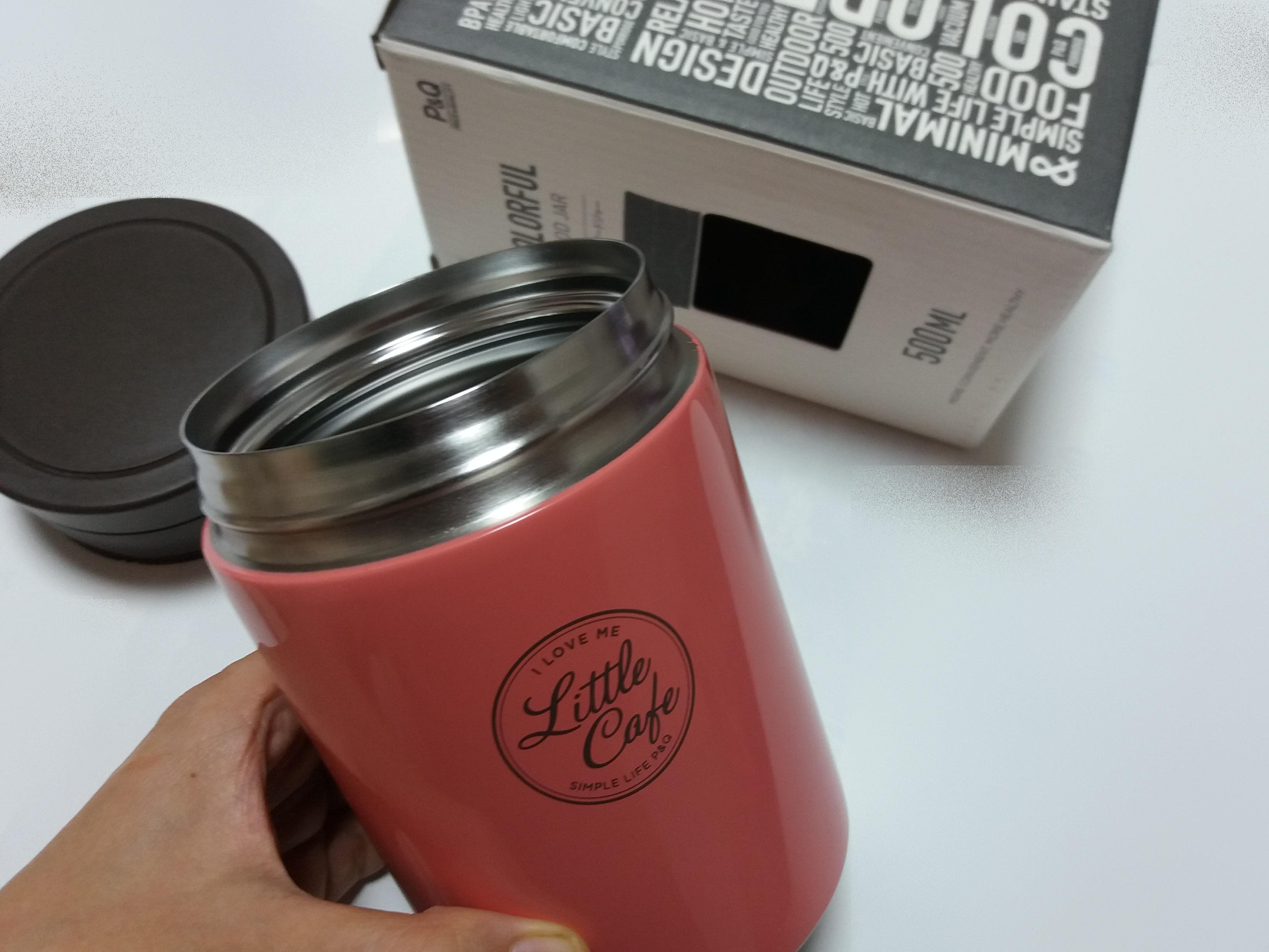 [피앤큐] * 컬러풀 보온 죽통 500㎖ -핑크 *로 겨울나기준비 ~~!