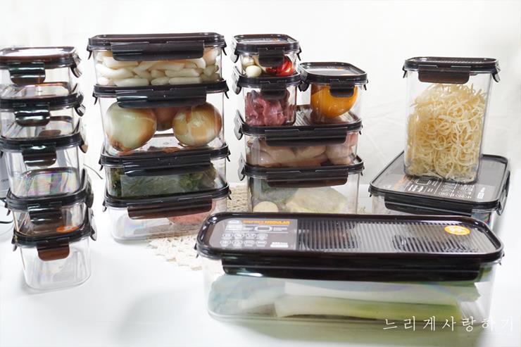 냉장고정리용기 락앤락 비스프리 모듈러 홈쇼핑세트 구성 좋네요