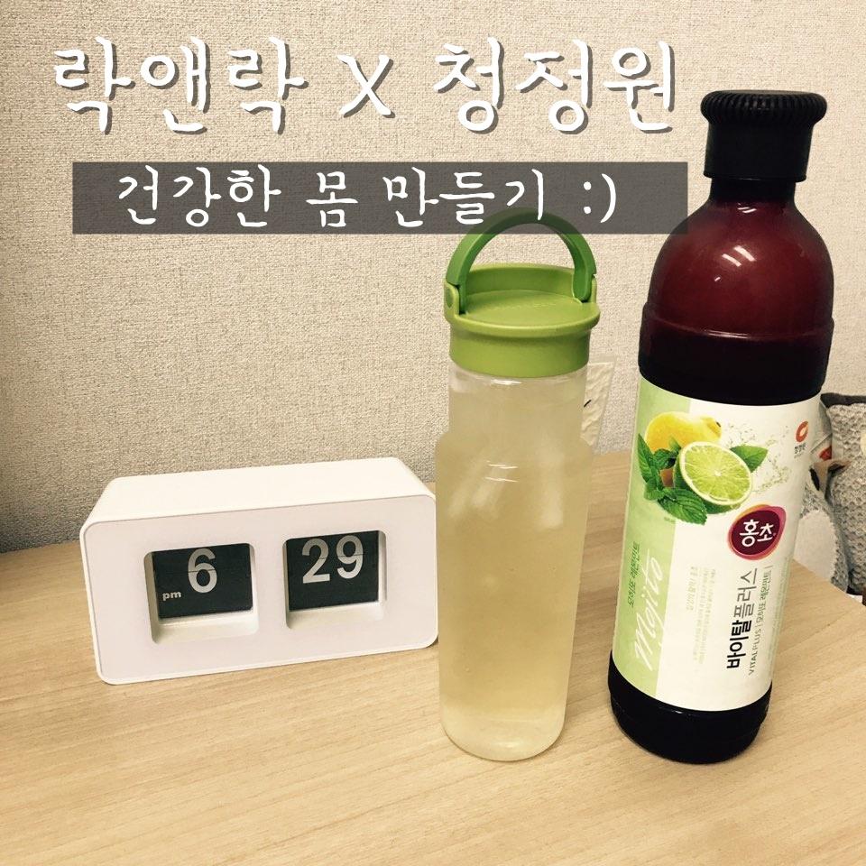 락앤락 핸들물병 X 청정원 홍초로 건강한 몸 만들기!