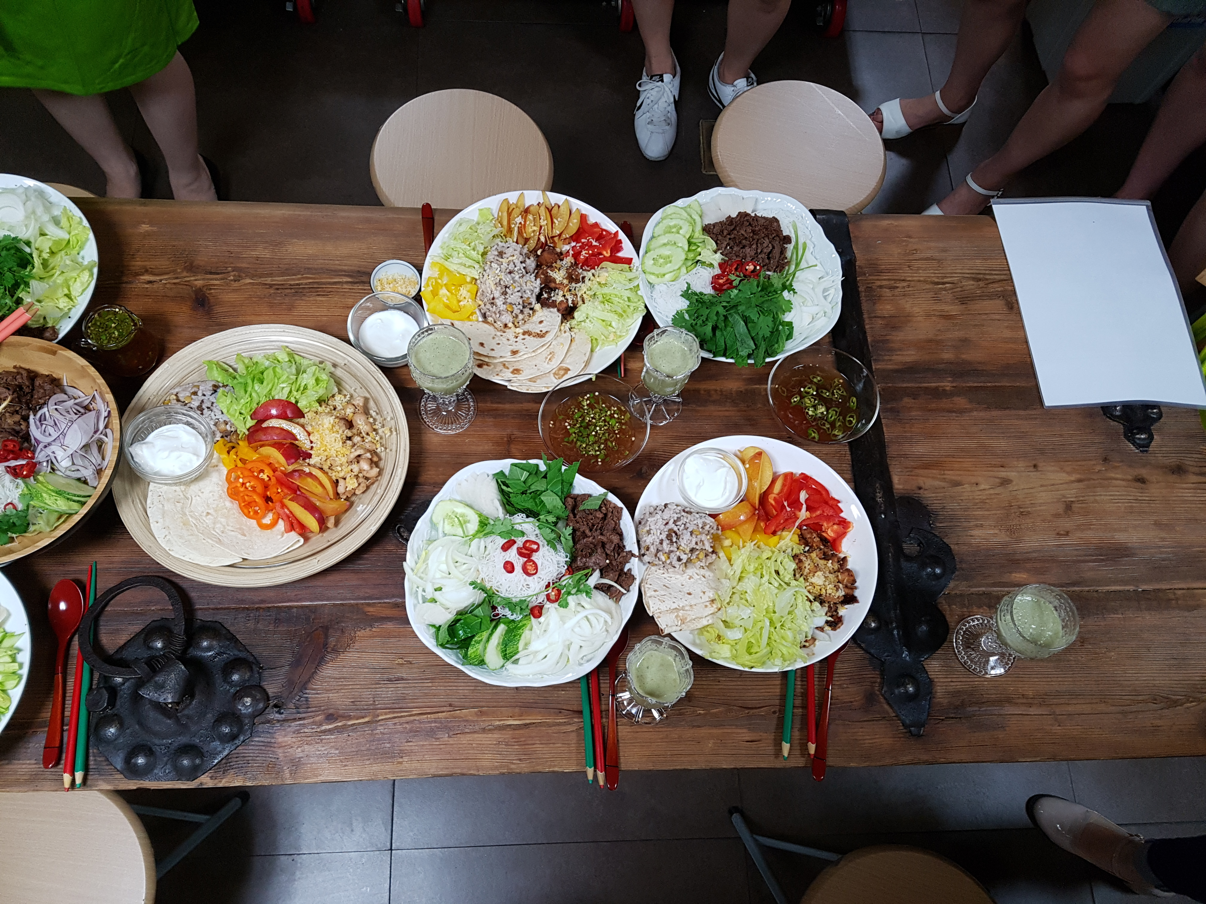 원데이 쿠킹클래스 - 저녁집밥   <720kcal 다이어터식단 - 클렌즈주스+닭가슴살타코라이스+쌀국수 샐러드
