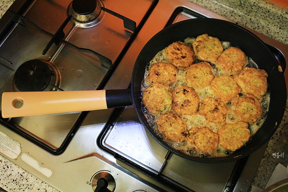 도깨비 프라이팬 추천 명절요리 새우튀김 만들기