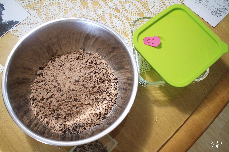 전자레인지로 발렌타인데이 초콜릿 케이크만들기 오븐글라스 하나면돼!