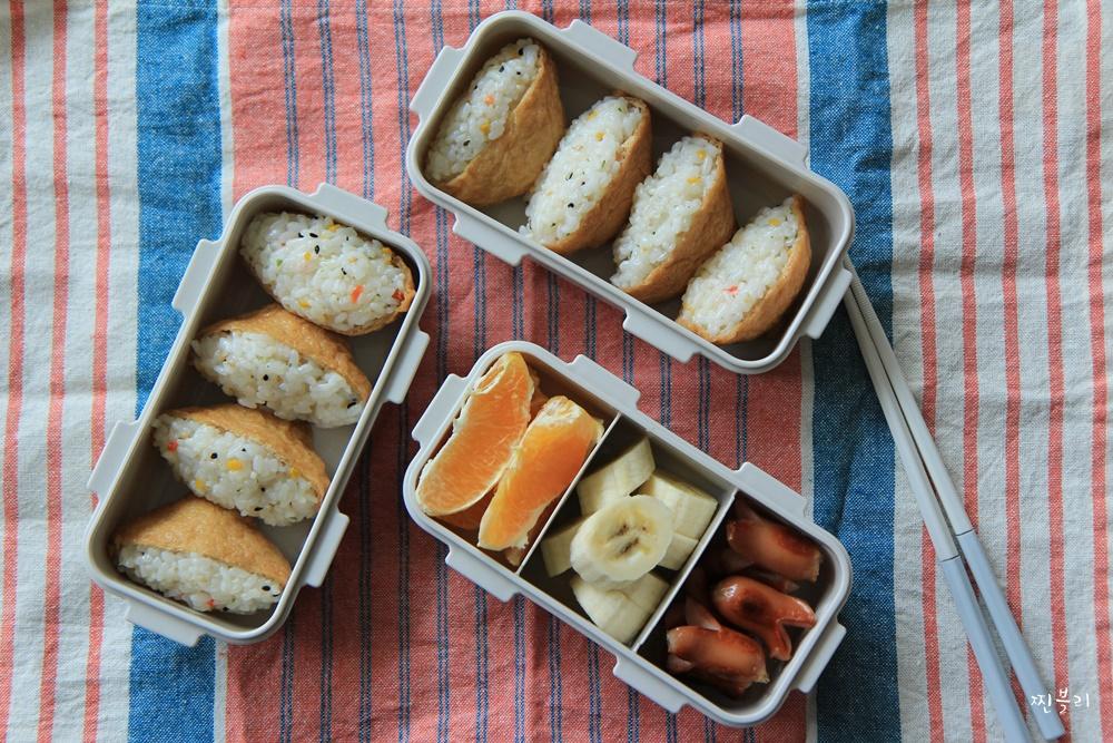 유부초밥도시락 만들기 나들이도시락으로 좋은! 인스타그램 도시락