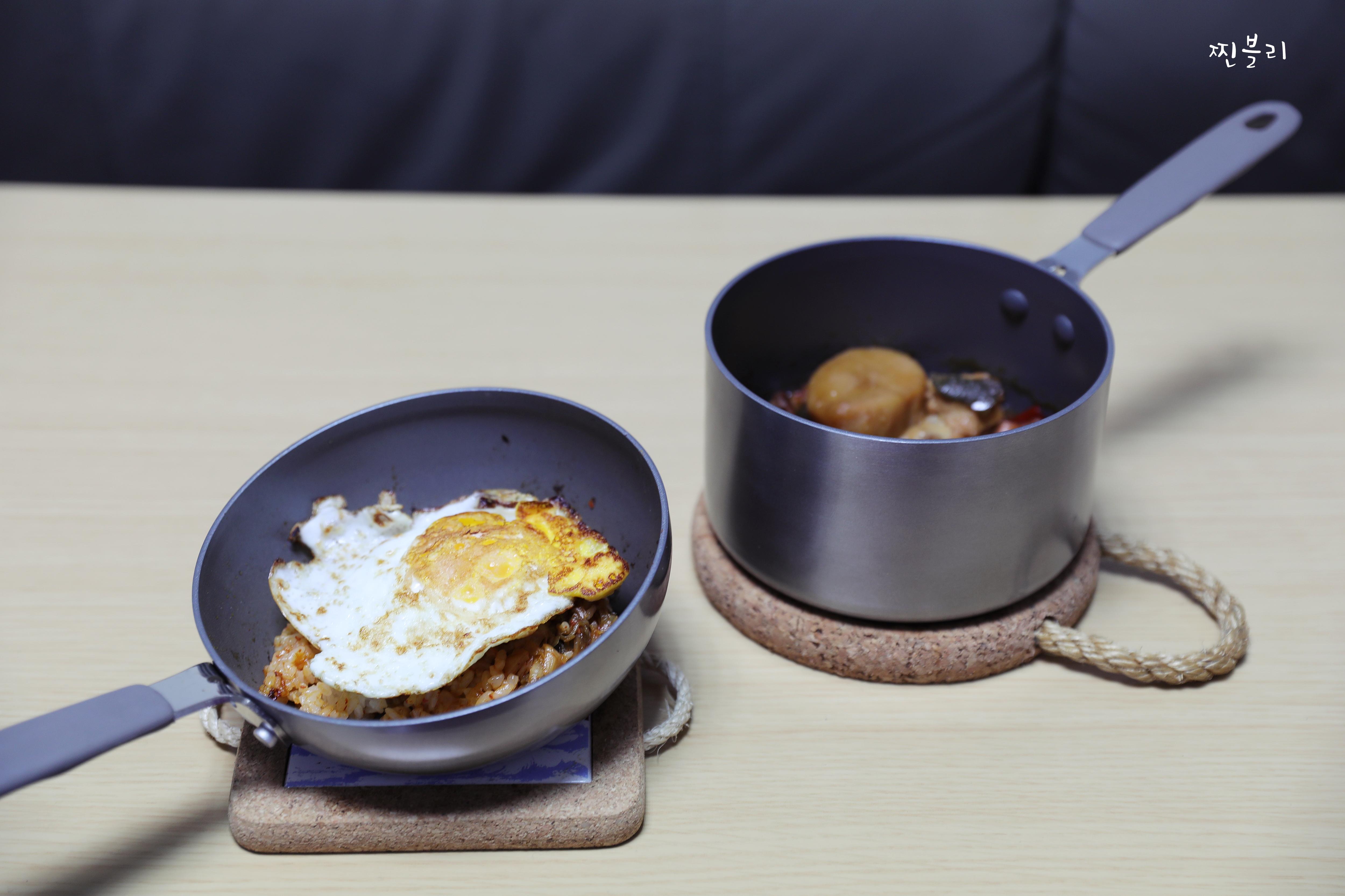 싱글족 요리 핸디쿡 미니팬으로 한끼식사!